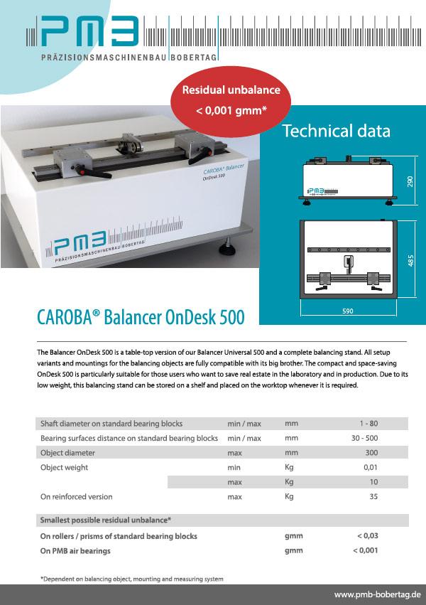 Caroba OnDesk 500 Technical