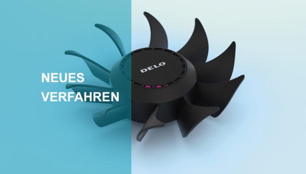 rotor-mit-ausgehärtetem-pinkfarbenem-gejettetem-klebstoff-und-text