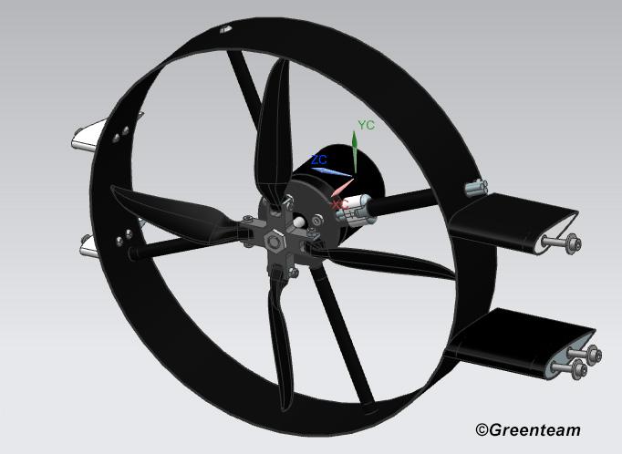 Darstellung der Baugruppe aktives Aerodynamik Konzept.