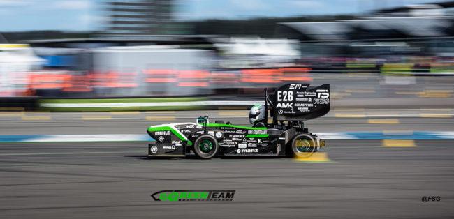 Rennwagen des Greenteam Racing Teams der Uni Stuttgart für die Formula Student